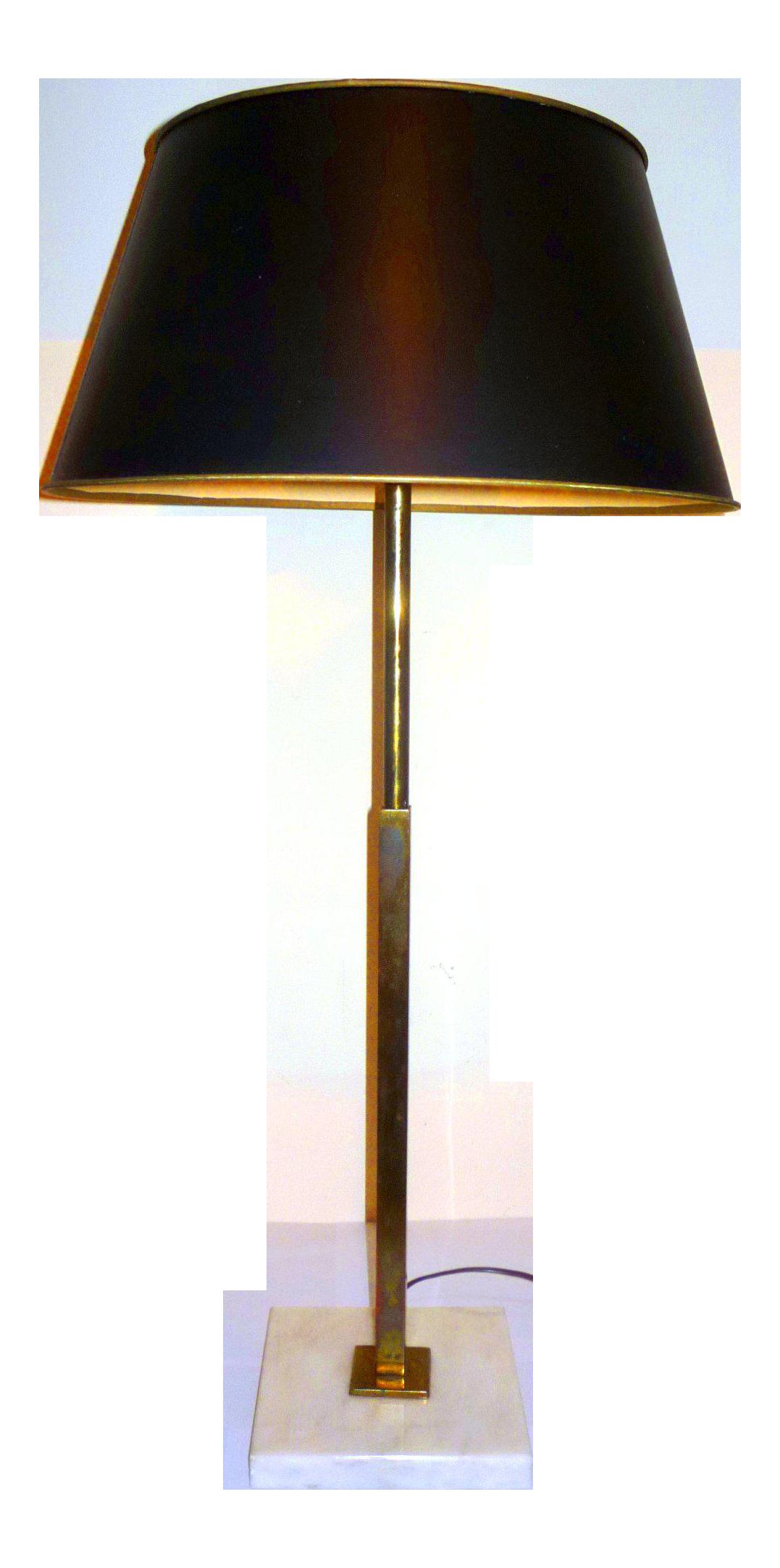 Stiffel Vintage 1960 S Gerald Thurston Design Marble Brass Table Lamp Chairish