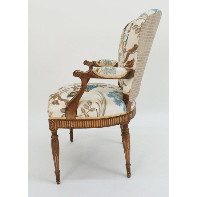 Frederick P. Victoria & Son, Inc. Adam Style Armchair For Sale - Image 4 of 6