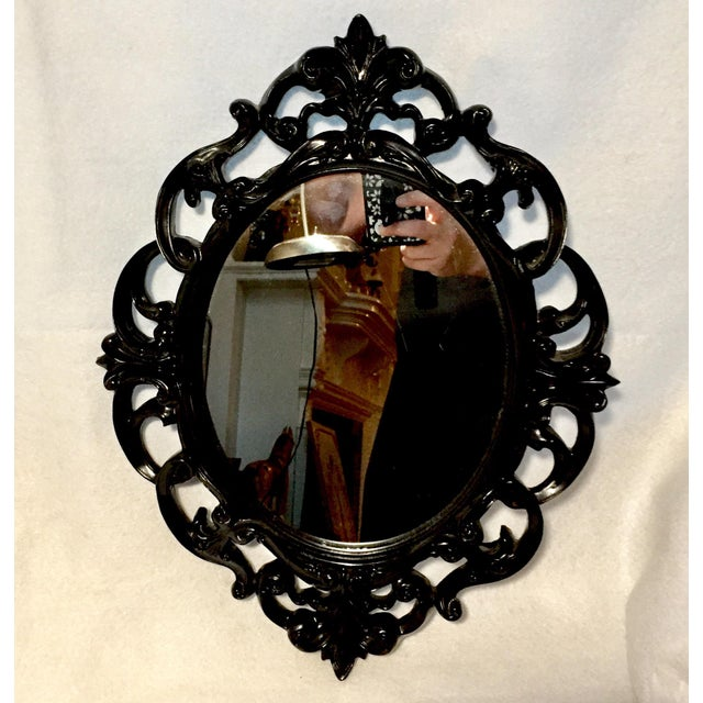 Black Lacquer Wall Mirror - Image 2 of 5