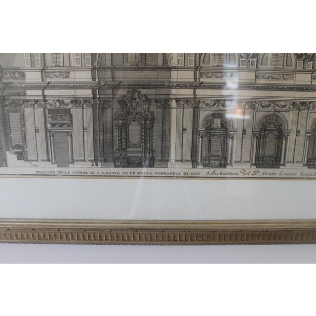 Early 19th Century Antique Spaccato De La Chiesa Architectural Print For Sale In New Orleans - Image 6 of 12