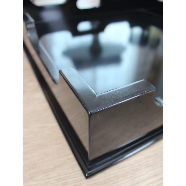 "Oomph ""Edgartown"" Square Black Lacquer Tray - Image 4 of 8"