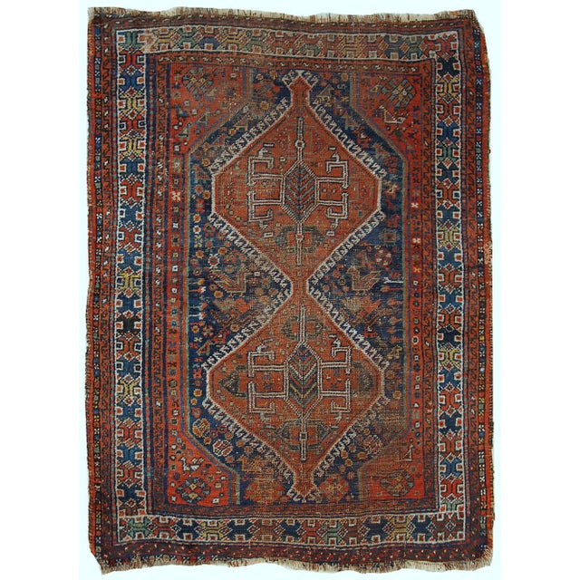 1910s Antique Persian Shiraz Rug - 3′9″ × 5′ - Image 2 of 11