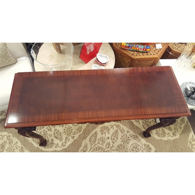 Cherry Wood Console Table - Image 3 of 7