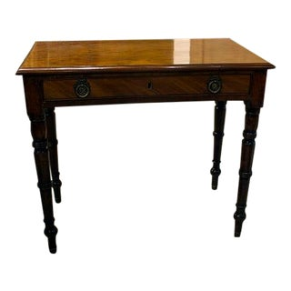 19th Century English Mahogany Side Table For Sale