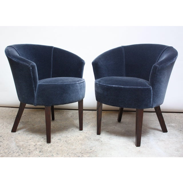 Pair of English George Smith 'Petworth' Tub Chairs in Mohair - Image 11 of 11
