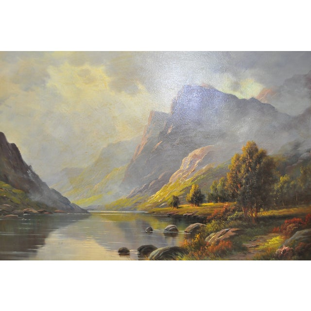 Antique 1920s Scottish Highlands Oil Painting - Image 3 of 7