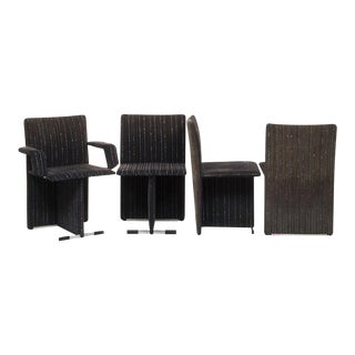 Giovanni Offredi for Saporiti Upholstered chairs, Italy, Circa 1970 - Set of Four