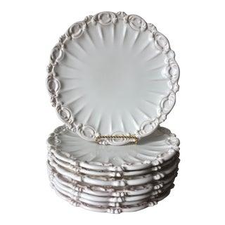 Motton De Gien-Rouard, Paris Terra Cotta Faience Plates - Set of 8