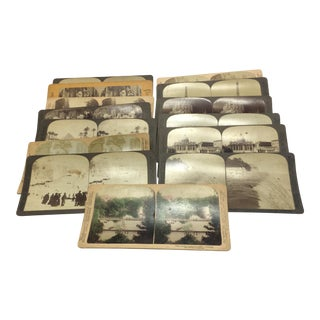 Stereoscope Stereograph Photo Cards - Set of 14