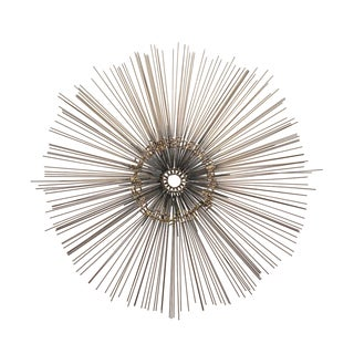 1970s Vintage Curtis Jere Style Brutalist Sunburst Wall Sculpture For Sale
