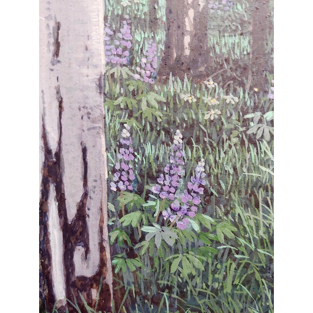 Gray Jack Braman -Inside a Misty Forest of Aspens -Realism-Oil Painting For Sale - Image 8 of 12