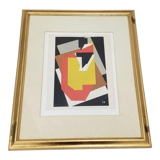 "Jacques Villon ""The Table With the Black Plug"" Vintage Framed Silkscreen Print For Sale"