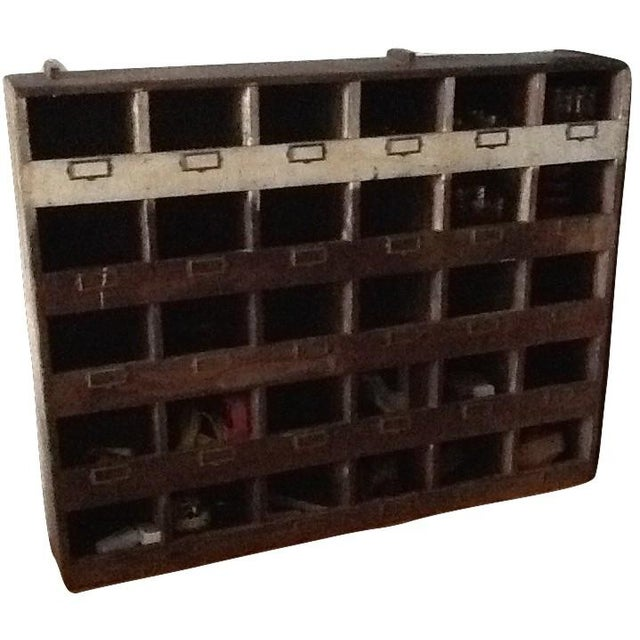 Vintage Industrial Wood Pigeon Hole Storage Shelves - Image 9 of 10