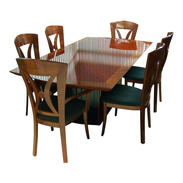 Contemporary Italian Dining Room Set By Excelsior Designs For Sale