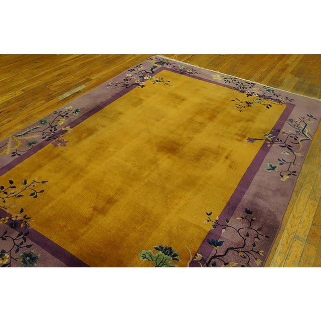 1920s 1920s Antique Chinese Art Deco Rug- 6′ × 8′8″ For Sale - Image 5 of 7