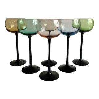 Long Stem Wine Glasses, Set of 6 For Sale
