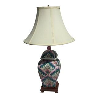Ceramic Flame Stitch Lamp For Sale