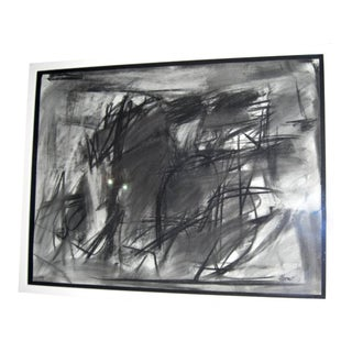 Charcoal Abstract of Geometric Forms on Paper For Sale