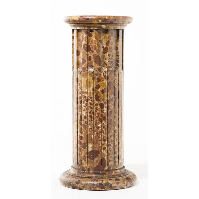 Mid-Century Modern Circa 1890 Faux Painted Marble Column For Sale - Image 3 of 8