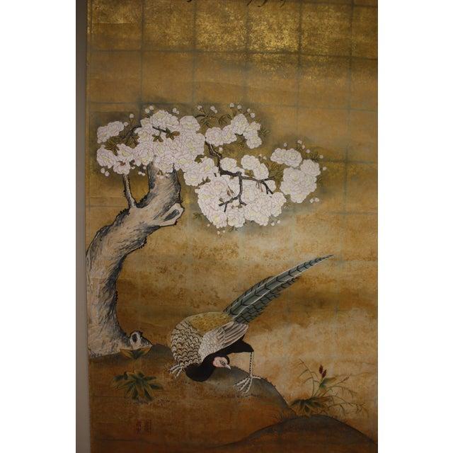 Paper Gold Leaf Mural Wallcovering Panel For Sale - Image 7 of 9