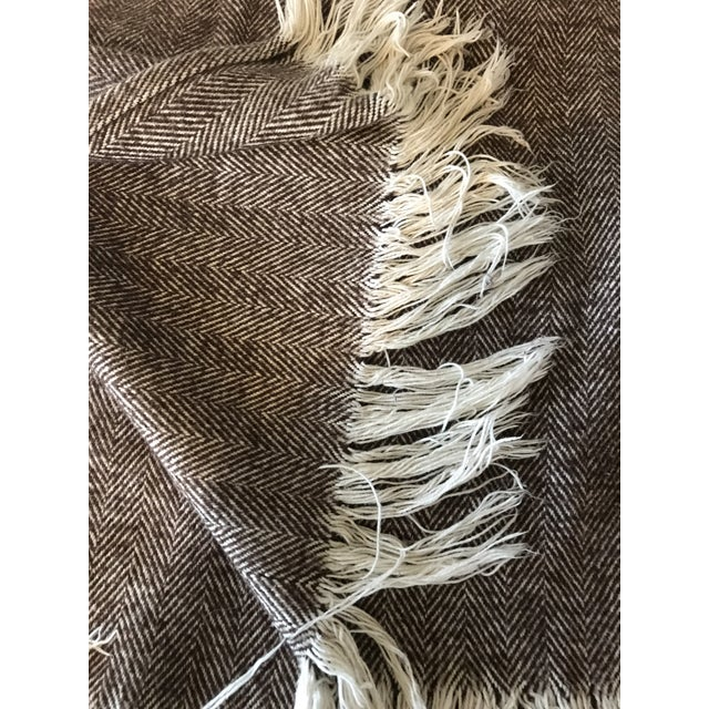 Brown & Ivory Woven Cotton Throw - Image 8 of 10