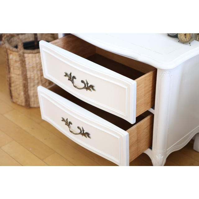 Shabby Chic Vintage White Nightstand For Sale - Image 5 of 6