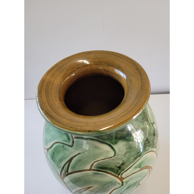 1940s 1940s Large Studio Pottery Vase by Zoltan Kiss for Knabstrup For Sale - Image 5 of 8