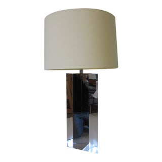 George Kovacs Chromed Table Lamp For Sale