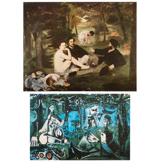 """Manet and Picasso, """"Lunch on the Grass"""" First Edition Lithograph and Parisian Photogravure, Set N2 For Sale"""