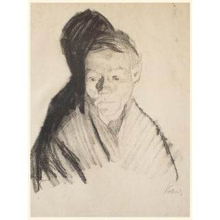"1950s Kathe Kollwitz ""Study for the Lithographed Poster of the Berlin Exposition"", 1st Edition Lithograph For Sale"