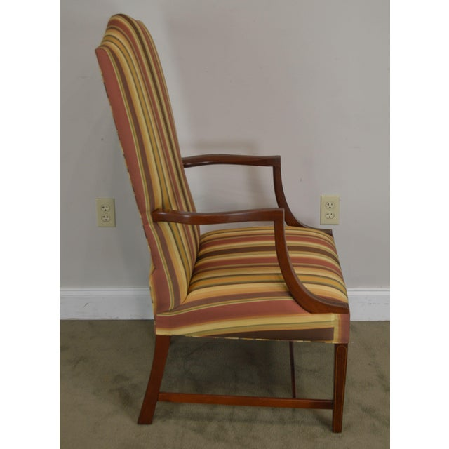 Stickley Stickley Colonial Williamsburg Collection Mahogany Martha Washington Lolling Arm Chair For Sale - Image 4 of 13