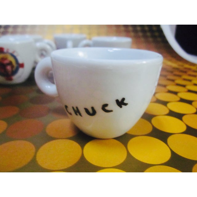illy Espresso Cups by Julian Schnabel, 2005 - S/5 - Image 8 of 11