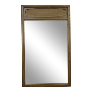 Mid-Century Walnut Mirror For Sale