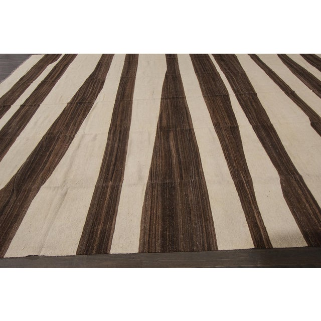 Textile 21st Century Modern Kilim Rug 12'x15' For Sale - Image 7 of 8