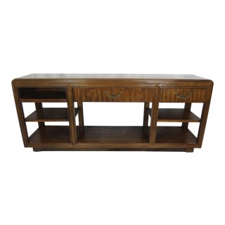 1950s Mid-Century Modern Wood Console For Sale