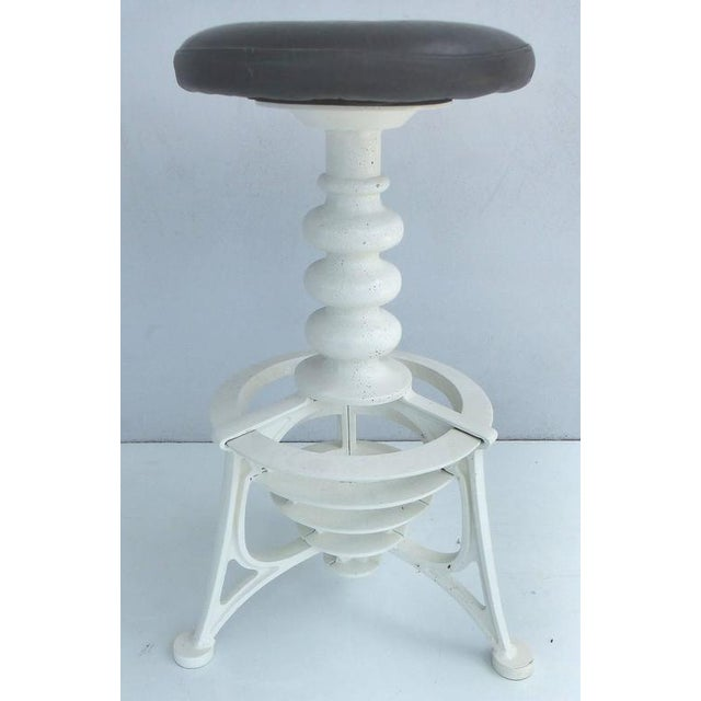 Black 20th Century Industrial Cast Iron Interchangeable Stools to Tables For Sale - Image 8 of 10