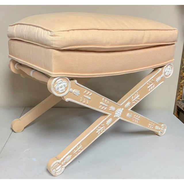 Italian Painted Venetian X-Bench For Sale - Image 4 of 4