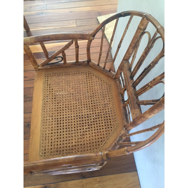 Bamboo Vintage Bamboo Chinoiserie Accent Chair For Sale - Image 7 of 11