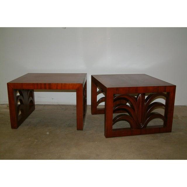T.H. Robsjohn Gibbings Circa 1950 United States Custom T. H. Robsjohn Gibbings End Tables - Pair For Sale - Image 4 of 7