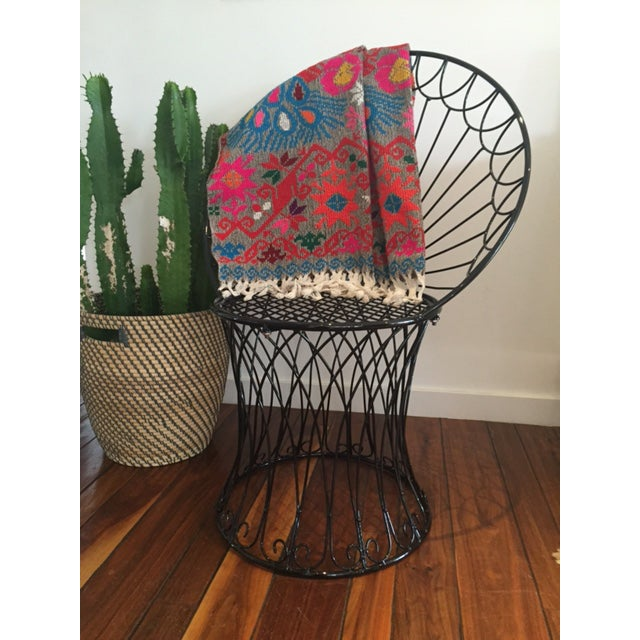 Vintage BoHo Metal Peacock Chair - Image 3 of 6