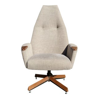 A Mid-Century Modern Adrian Pearsall Swivel High Back Lounge Chair 2174c For Sale