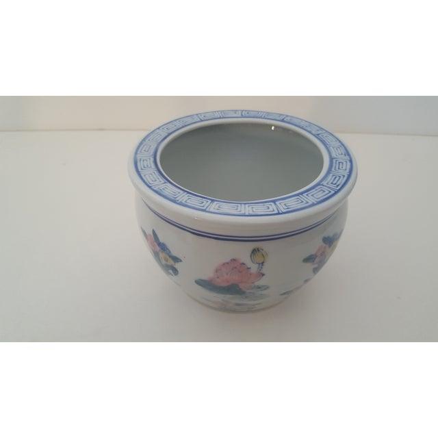 Vintage Blanc De Chine Asian Lotus Flower Cachepot - Image 7 of 8