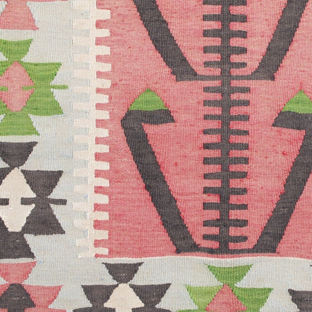 Faye Turkish Kilim Rug - 2′7″ × 3′11″ - Image 2 of 2