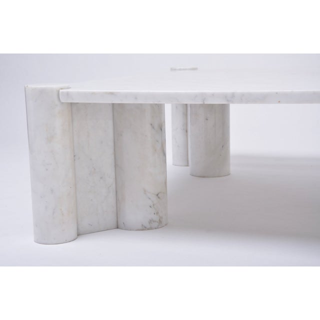 Stone Jumbo White Marble Coffee Table by Gae Aulenti, 1970s For Sale - Image 7 of 11