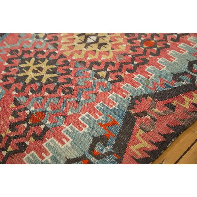 """Blue Antique Kilim Carpet - 6'1"""" x 9'1"""" For Sale - Image 8 of 10"""