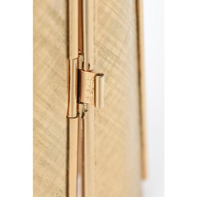 Napier Napier Modern Gold Tone Cuff Bracelet For Sale - Image 4 of 11