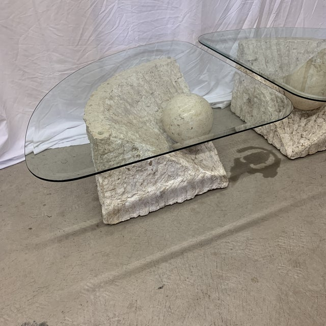 Vintage Post Modern Tessellated Stone Coffee End Tables - a Pair For Sale - Image 10 of 13