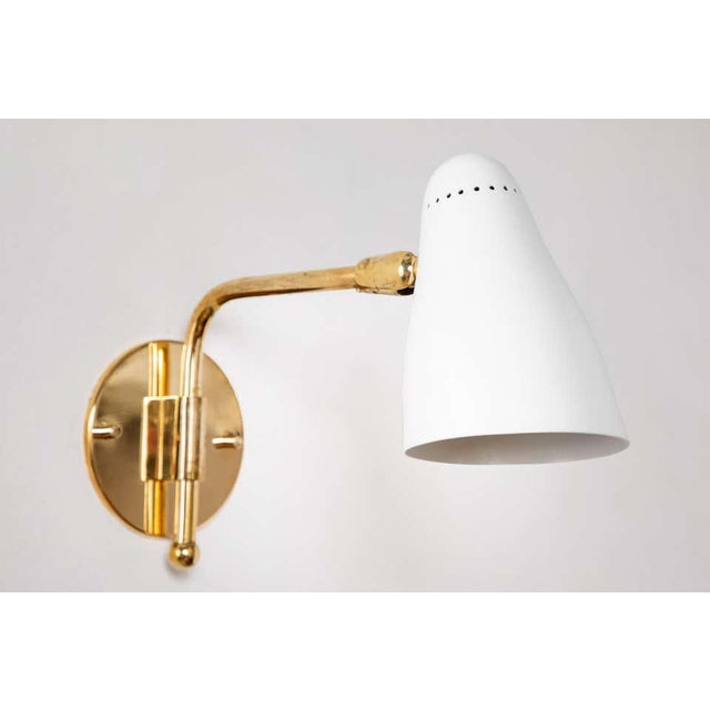 1950s Giuseppe Ostuni Articulating Arm Sconces for O-Luce - a Pair For Sale - Image 11 of 13