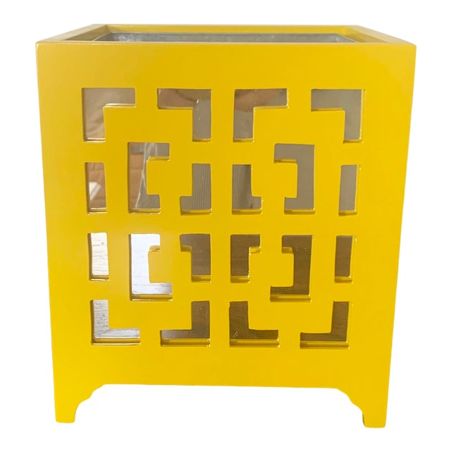 Worlds Away Libby Yellow Planter For Sale