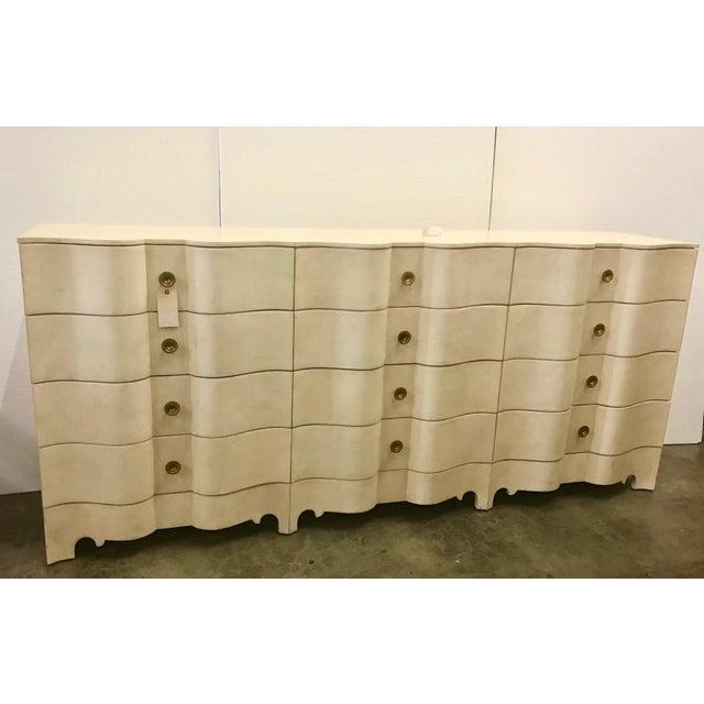 2000 - 2009 Large Hollywood Regency Parchment Dresser For Sale - Image 5 of 5